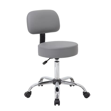 Black Caressoft Stool W Back grey caressoft stool w back cushion