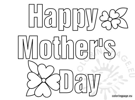 happy mothers day coloring page happy s day coloring