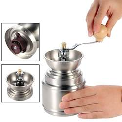 Burr Coffee Bean Grinder Portable Stainless Steel Coffee Bean Grinder Ceramic Burr