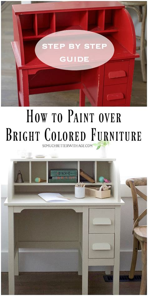 how to paint bright or coloured furniture