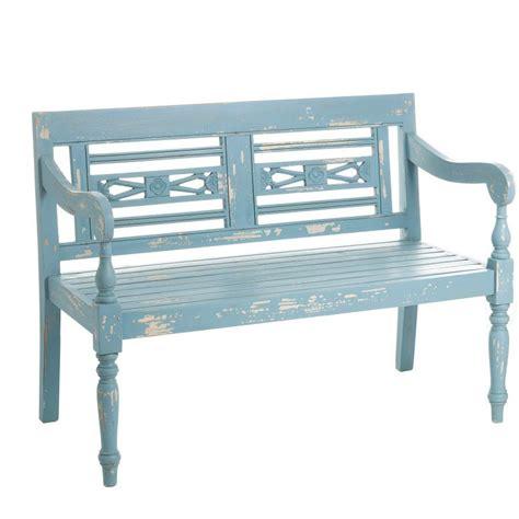 divanetto legno divanetto legno azzurro shabby chic mobili legno massello