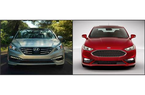Hyundai Fort by Ford Fusion Vs Hyundai Sonata U S News World Report