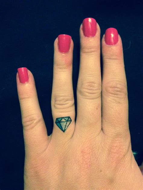 diamond ring tattoo bachelorette temporary ring finger