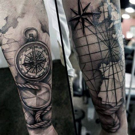 steunk tattoos compass ideas top picks 110 best compass