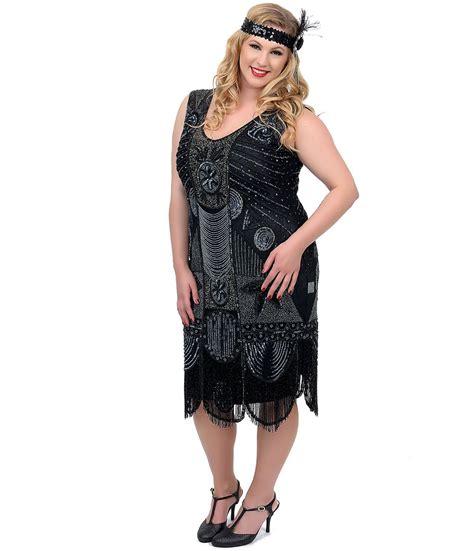 Handmade Plus Size Clothing - unique vintage plus size 1920s quot the bosley quot black beaded