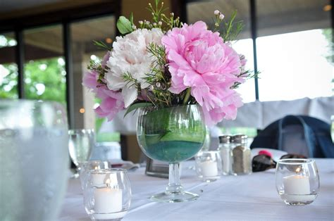 Johns Symposium On Pinterest Wine Glass Centerpieces Wedding Centerpieces With Wine Glasses