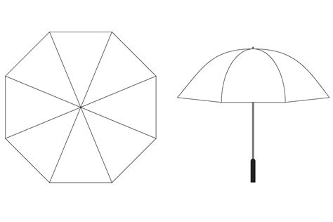 umbrella template umbrella template dringrames org coloring pages