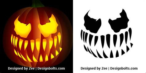venom pumpkin carving stencils printable patterns