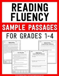 printable leveled reading fluency passages book reports teacher wear and second grade on pinterest