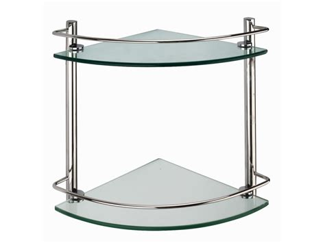 Bathroom Corner Glass Shelf by Cascade Corner Glass Shelf Shower Shelves Bathroom