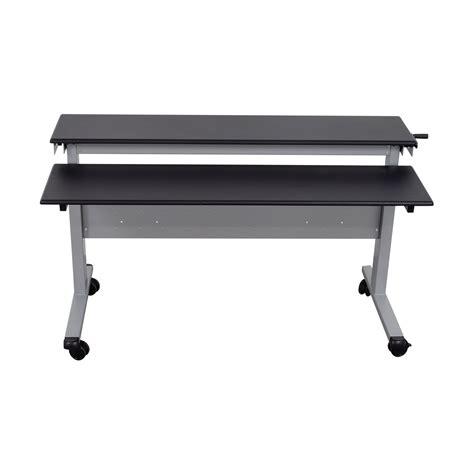 crank sit stand desk 86 off rakuten rakuten crank adjustable height sit to
