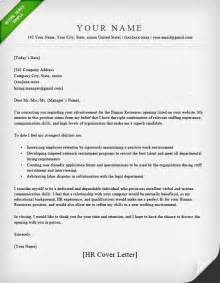 cover letter for hr human resources cover letter sle resume genius