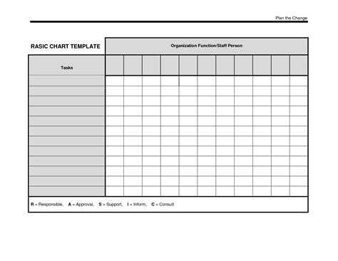 Chart Template 7 best images of free printable blank organizational