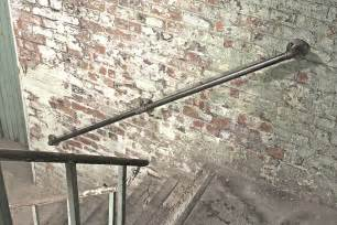 Metal Banister Rails Susannah Industrial Steel Pipe Staircase Hand Rail By