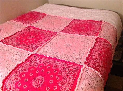 hot pink coverlet light pink and hot pink bandanas make a beautiful rag