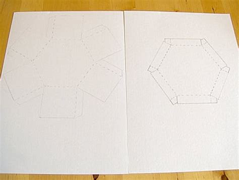 hexgonal card template things to make and do make and decorate a hexagonal box
