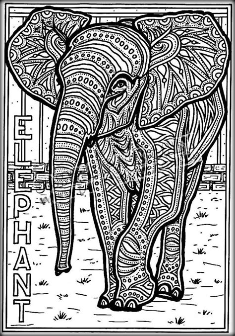 detailed elephant coloring pages 170 best elephant coloring pages for adults images on