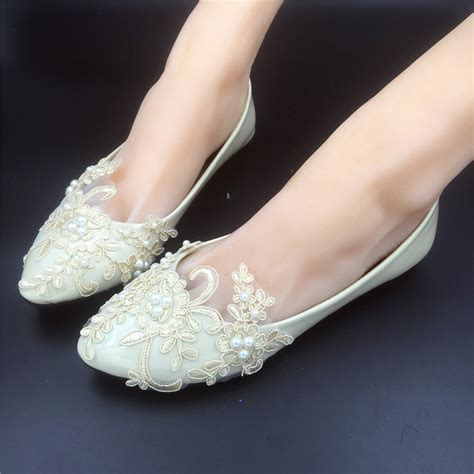 Brautschuhe Ivory Strass by Chagne Lace Bridesmaids Shoes Rhinestone Bridal Shoes