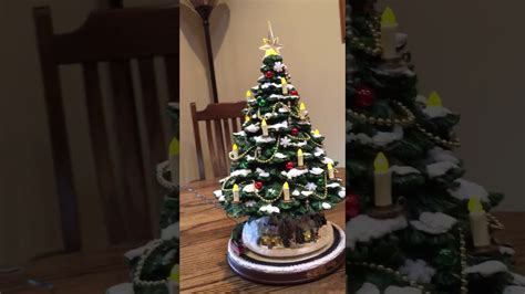 tree lighting song kinkade tabletop tree with lights motion and