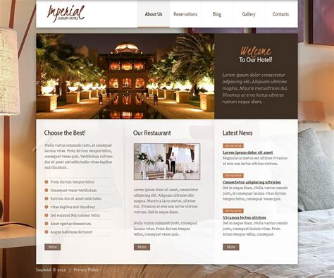 hotel template joomla hotels joomla template web design templates website