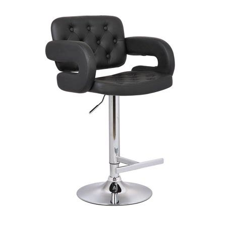 Contemporary Swivel Adjustable Bar Stool With Arm Rests by Contemporary Tufted Adjustable Swivel Arm Bar Stool With