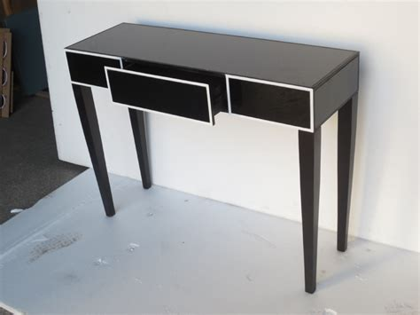 mirrored desk with drawers black mirrored desk console table 3 drawer buy 3 drawer
