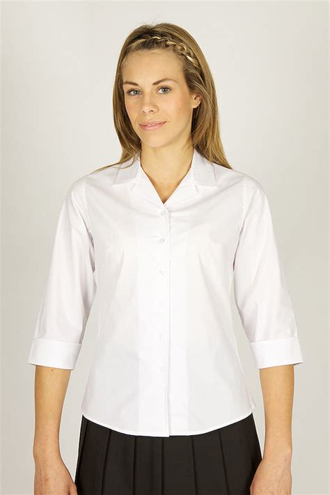 White Tops And Blouses Uk by Trutex Rever Collar 190 Sleeve Blouse White Trutex 190