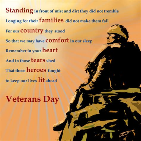 Happy Veterans Day To Army Soldier Free Greeting Card Template by Veterans Day Thank You Poems Veterans Day Poem Free