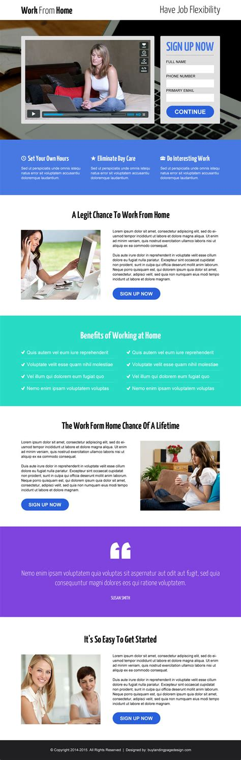 video landing pages landing page design templates exle