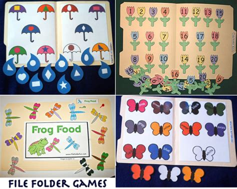 preschool file folder games quotes