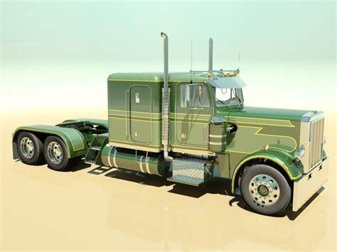 model semi trucks 359 custom semi truck 3d model max obj 3ds fbx