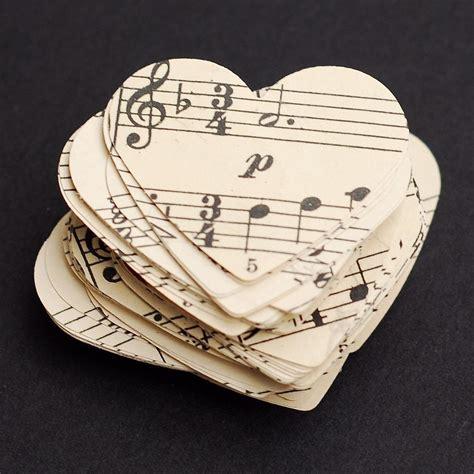 Vintage Craft Paper - paper hearts vintage craft supplies 100 vintage sheet