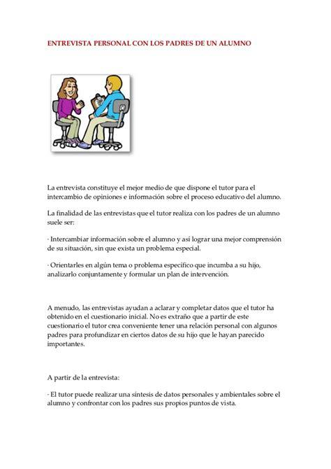 preguntas para una entrevista escolar a un familiar entrevista personal con los padres de un alumno