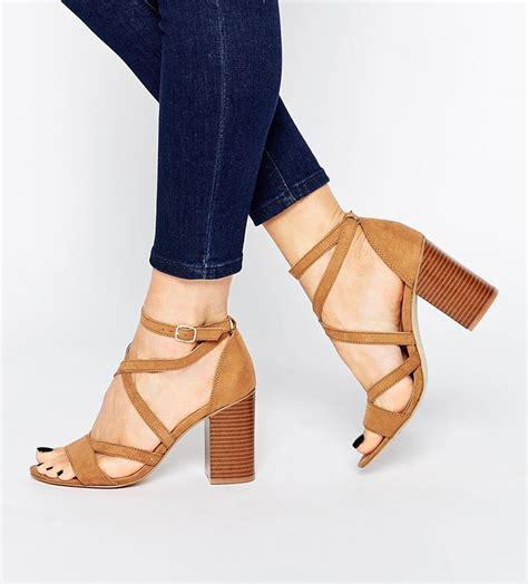 block heel high heels strappy block heel sandals shoes block