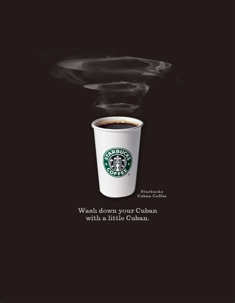 Poster 126 Coffee starbucks cuban coffee print ad on behance