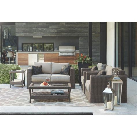 Home Decorators Outdoor Furniture | home decorators collection naples dark 4 piece all weather