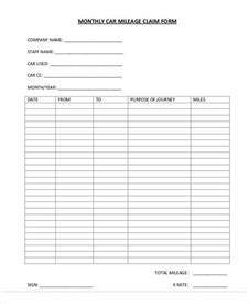 mileage expense form template free free claim forms