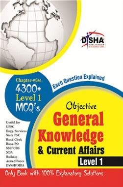 General Knowledge For Mba Pdf by Objective General Knowledge Current Affairs Level 1 For