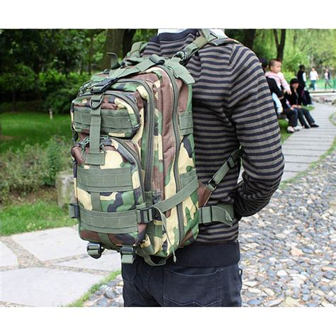 Bb641 Tas Ransel Punggung Kulit Army Backpack Traveler Korean Style tas ransel tentara army camouflage travel hiking bag 24l elevenia