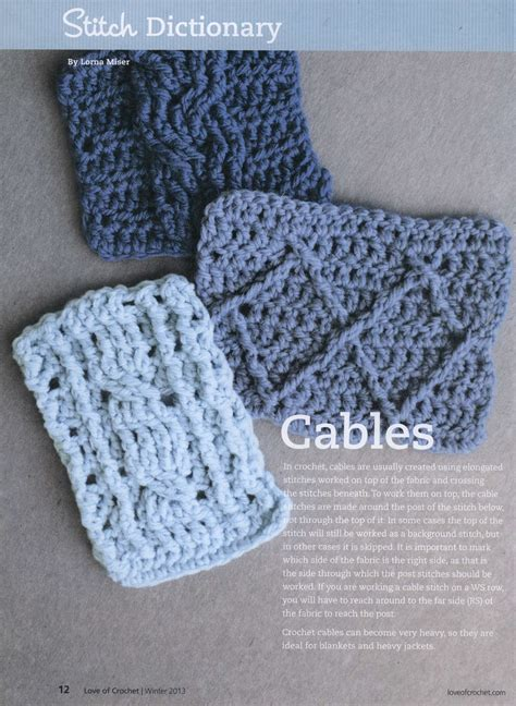 pattern of crochet crochet cable stitches crochet kingdom