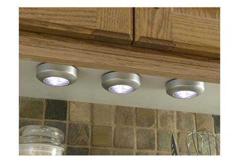 Battery Powered Led Tap Light Wireless Under Cabinet Cabinet Lighting Battery Kitchen