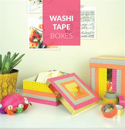 how to use washi tape washi tape decorative boxes