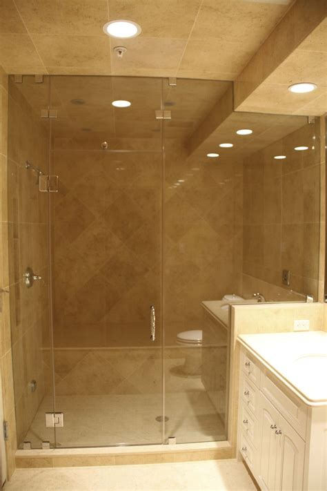 Steam Shower Doors Glass Frameless Frameless Shower Enclosure Steam Unit With Venting Transom Above The Door Door Hinged Glass To