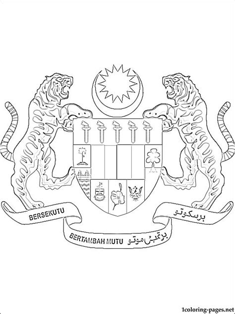 harry potter coloring book malaysia malaysia coat of arms coloring page coloring pages