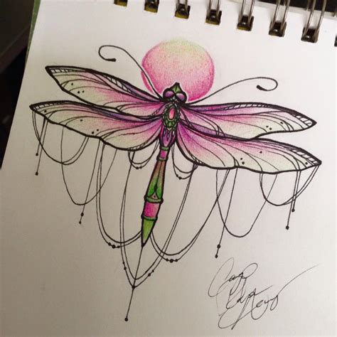 dragonfly tattoo by ailanor on deviantart