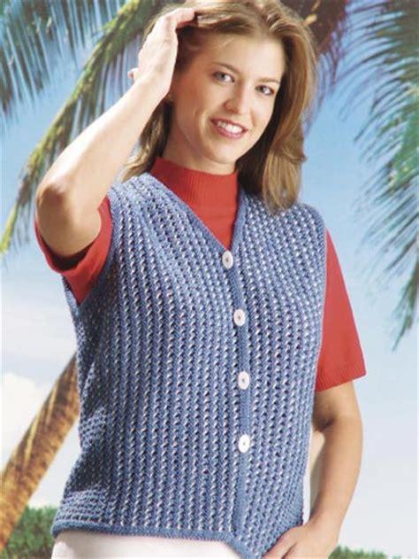 sweater pattern knit side to side blue jeans beach vest