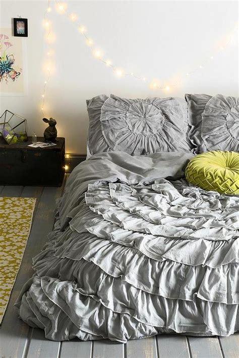 gray ruffle bedding gray ruffle medallion reversible duvet cover