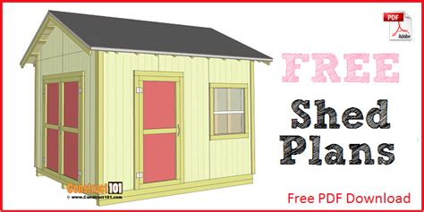 Shed Plans And Material List Free by Free Shed Plans With Drawings Material List Free Pdf