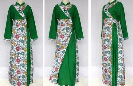 Baju Muslim Modern Warna Hijau 10 contoh baju muslim batik modern 2015