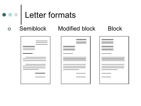 Definition Modified Block Format by Modified Block Letter Standard Modified Block Letter